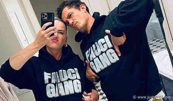 Katy Perry & Orlando Bloom Wear Matching 'Fauci Gang' Sweatshirts!