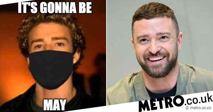 Justin Timberlake recreates iconic 'It's Gonna Be May' meme with coronavirus edition