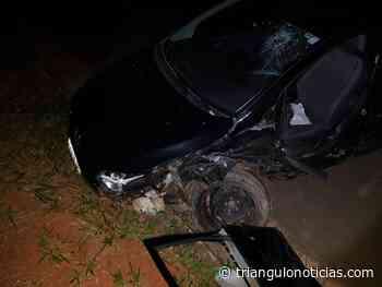 Motorista fica ferido em acidente na BR 354 em Lagoa Formosa - Triângulo Notícias - TN