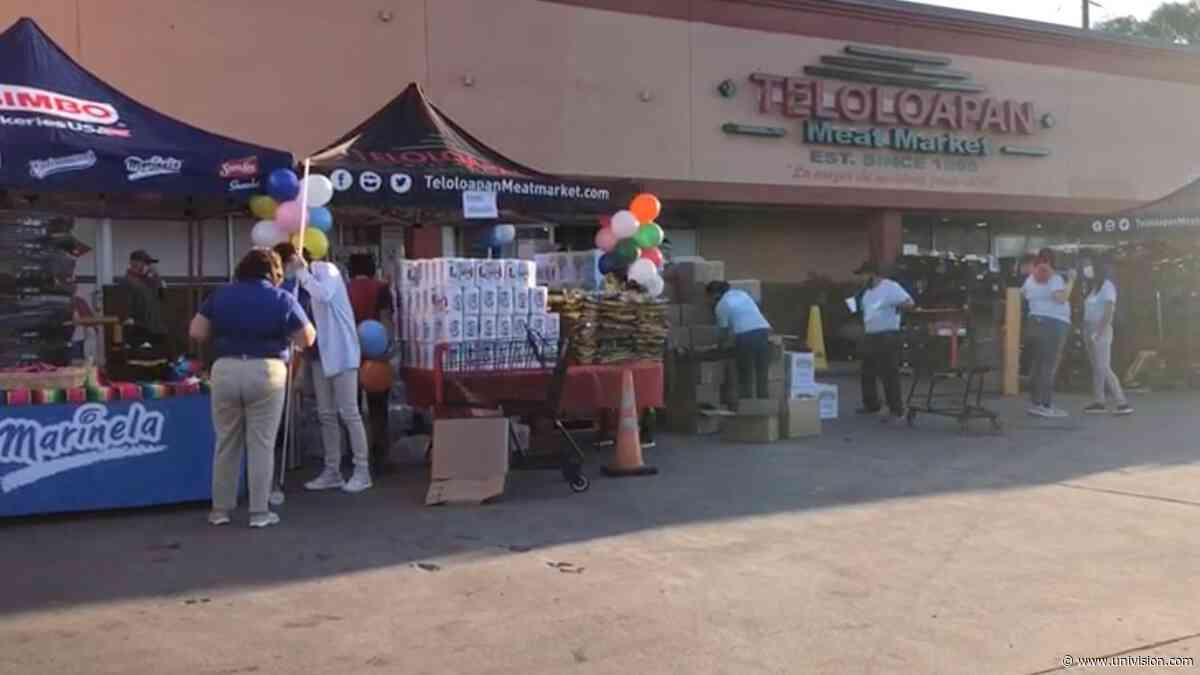 Regalan 800 despensas a familias necesitadas al norte de Houston - Univision