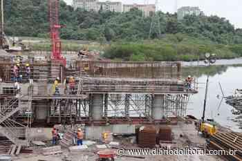 Nova Ponte do Rio São Jorge já tem todas as 522 estacas cravadas - Diário do Litoral