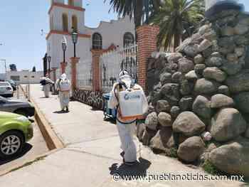 Sanitizan espacios públicos en Chignahuapan - Puebla Noticias