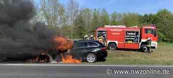 Einsatz Für Feuerwehr Emstek: Auto brennt auf der B 72 – 40.000 Euro Schaden - Nordwest-Zeitung