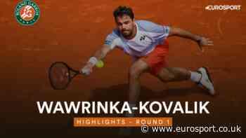 French Open 2019 – Highlights: Stanislas Wawrinka overcomes Jozef Kovalik - Eurosport.co.uk