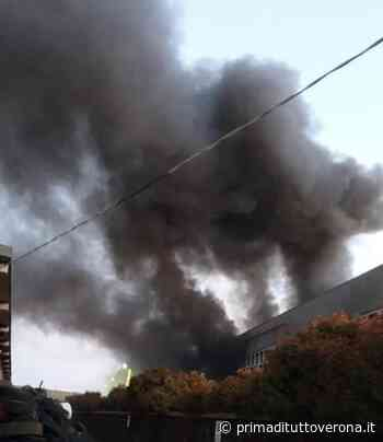 Incendio nell'impianto rifiuti di Montebello Vicentino prelievi dell'aria inviati ad Arpav - Verona Settegiorni