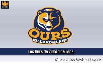 Hockey sur glace : D2 : départ à Villard de Lans - Transferts 2020/2021 : Villard-de-Lans (Les Ours) - hockeyhebdo Toute l'actualité du hockey sur glace