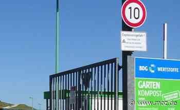 Recyclinghof: Nach Bernau und Eberswalde öffnet nun auch Wandlitz - Märkische Onlinezeitung