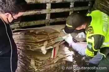 Lo que descubrieron autoridades en camión que podía andar en cuarentena y llevaba cartón reciclable - Noticias Caracol