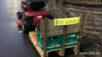 Siegen: Feucht-fröhliche Rasenmäher-Tour von Polizei gestoppt - BILD