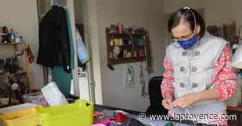 Coronavirus : des masques haute couture pour les sages-femmes à Eguilles - La Provence