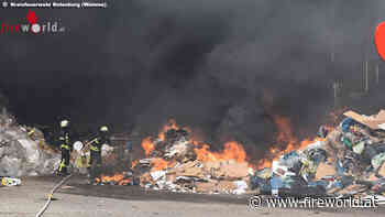 D: Feuer bei Recyclingunternehmen in Zeven - Fireworld.at