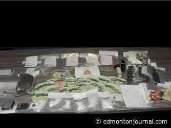 Vegreville RCMP seize meth, coke, weapons and cash after pair in stolen car arrested - Edmonton Journal
