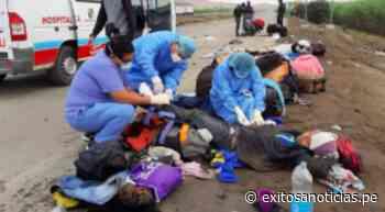 Covid-19: Personas que retornaban a sus regiones fueron atropelladas en Paramonga - exitosanoticias