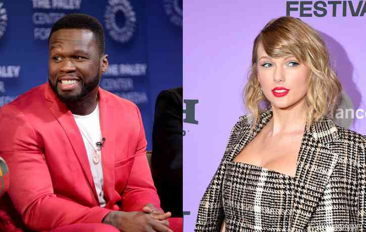 50 Cent loses it with artist painting him as Taylor Swift, Post Malone and others