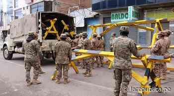 Con tranqueras bloquearán más calles de Juliaca para evitar movilización de vehículos - LaRepública.pe
