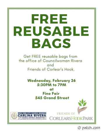Feb 26 | Free Reusable Bag Giveaway | Lower East Side - Patch.com
