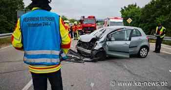 Vorfahrt missachtet: Zwei Leichtverletzte bei Unfall in Stutensee - ka-news.de