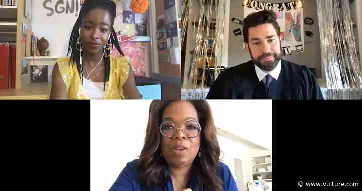 Oprah, Jon Stewart Surprise Graduates With Some Sage Advice on John Krasinski's Some Good News - Vulture
