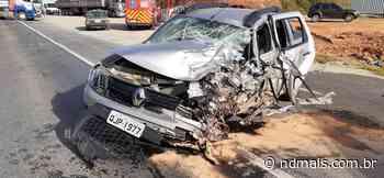 Acidente grave deixa três pessoas feridas em Araquari, entre elas uma criança - ND - Notícias