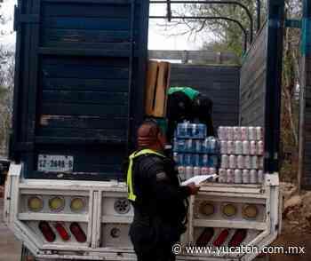 Decomisan cerveza en puesto de control en Oxkutzcab - El Diario de Yucatán