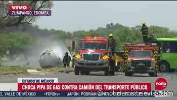 Un muerto y ocho personas lesionadas por choque en Zumpango, Edomex - Noticieros Televisa