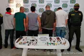 Fuga de cinco presos de la cárcel de Abejorral no duró ni 20 minutos - Noticias Caracol