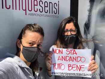 Flashmob dei commercianti di San Giovanni Lupatoto per chiedere al Governo aiuti concreti e tempestivi - Verona Settegiorni