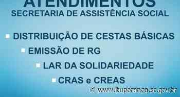 Secretaria de Assistência Social prioriza atendimentos com agendamento - Prefeitura de Ituporanga