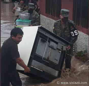 Intensas lluvias causan desbordamiento de río en Gualaceo; hay otros ríos en estado de alerta - Vistazo