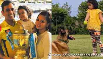 Mahendra Singh Dhoni's Daughter, Ziva Dhoni Plays With Her Pooch In These Super Cute Videos - BollywoodShaadis.com