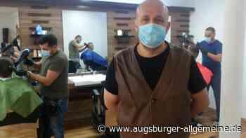 Haarschnitt mit Mundschutz und Handschuhen - Augsburger Allgemeine
