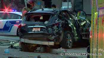 Two women seriously injured in 'complicated' Saint-Laurent car crash - CTV News Montreal