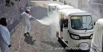 Desinfectan mototaxis en Emiliano Zapata - Diario de Morelos