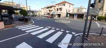 Loano, lavori di rifacimento della segnaletica stradale (foto) - AlbengaCorsara News