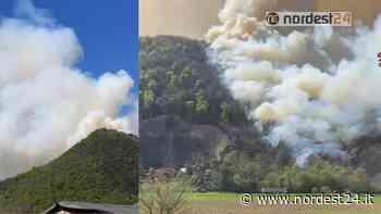 Vasto incendio boschivo: brucia il monte Asolone a Torreglia (PD) - Nordest24.it