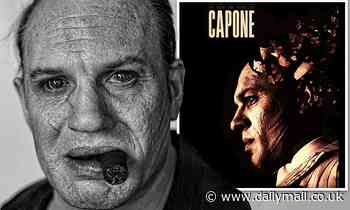 Tom Hardy extensive makeup for Capone revealed in new behind-the-scenes image - Daily Mail