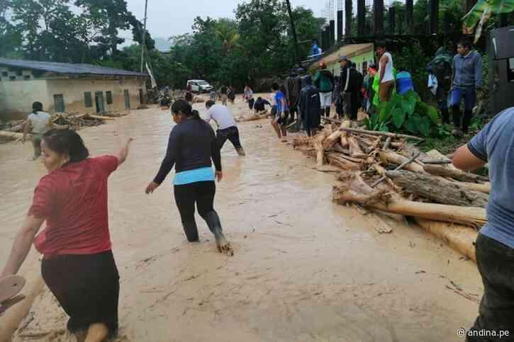 San Martín: reportan daños en varias localidades de Uchiza por crecida de ríos - Agencia Andina