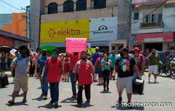 Cierran comerciantes Coppel y Elektra: piden piso parejo - Noticias de Texcoco