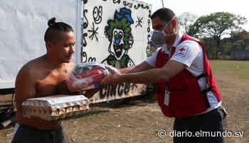 Cruz Roja entrega alimentos a familias de circos en Guazapa - Diario El Mundo