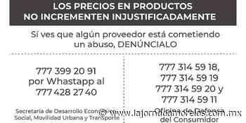 Jiutepec y Profeco se unen contra alzas injustificadas - La Jornada Morelos