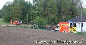 Rettungshubschrauber bringt Mann in Klinik: 49-jähriger Radfahrer stürzt in Lohmar und verletzt sich schwer - General-Anzeiger