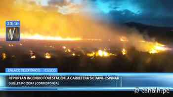 Cusco: incendio forestal se registra cerca de la carretera Sicuani – Espinar - Canal N