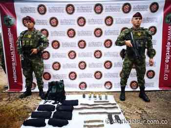 Hallan depósito ilegal con material de guerra en San Vicente del Caguán, Caquetá - Diario del Sur