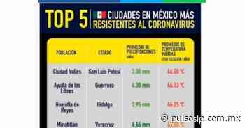 Erróneo, pensar que Ciudad Valles es más resistente al coronavirus, advierte Salud - Pulso de San Luis