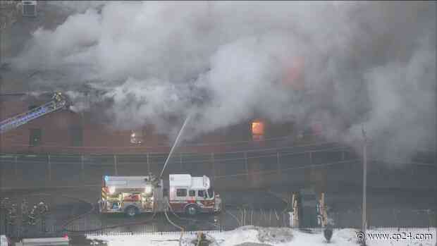 Businesses evacuated after fire breaks out at industrial building in Schomberg - CP24 Toronto's Breaking News
