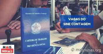 Sine de Contagem oferece vaga de emprego nesta quarta-feira, 06 de maio - Mais Minas