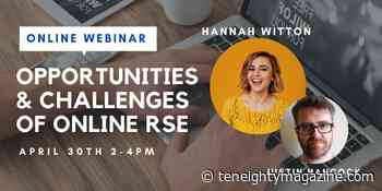 Hannah Witton to Feature on Relationships & Sex Eduction Webinar - TenEighty
