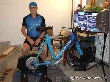 Ventilator dient als Fahrtwind-Simulator: 83-jähriger Brötzinger fährt Radklassiker Eschborn–Frankfurt virtuell daheim - Sport - Pforzheimer Zeitung