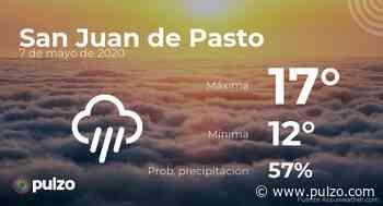 El clima para hoy en San Juan de Pasto, 7 de mayo de 2020 - Pulzo
