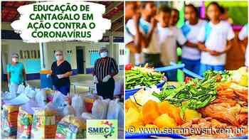 Kits de alimentação serão entregues às famílias de alunos em Cantagalo - Serra News